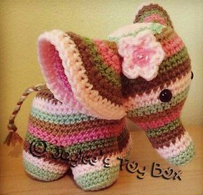 Make a crochet elephant, tutorials and models