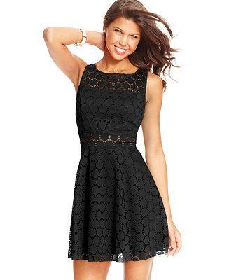 Trixxi Juniors' Crochet Skater Dress
