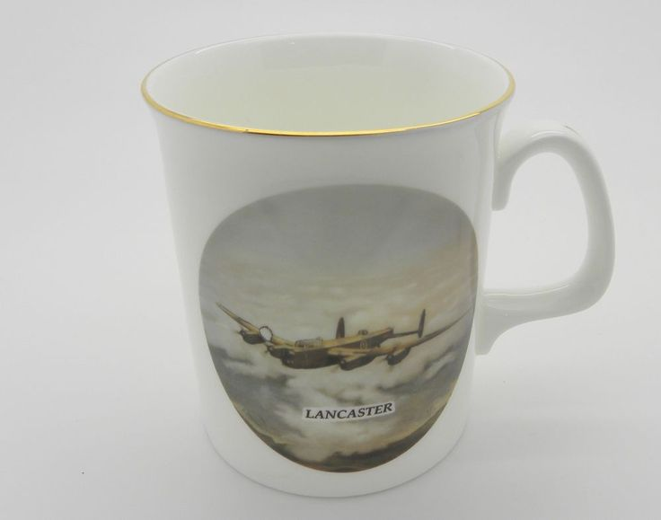 Mug Coffee Cup Lancaster Bomber John Evans Bone China made in England  Planes