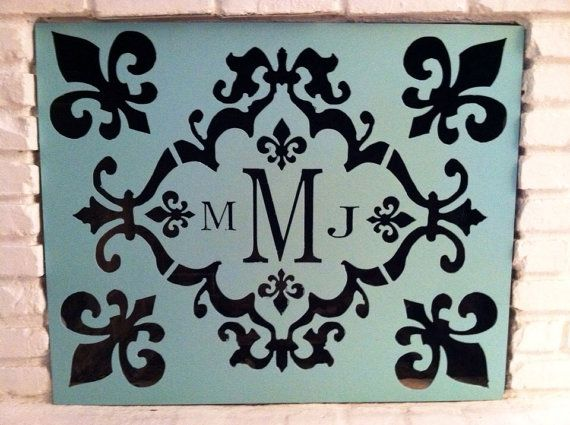 Personalized Monogram Fireplace Screen Or Cover By