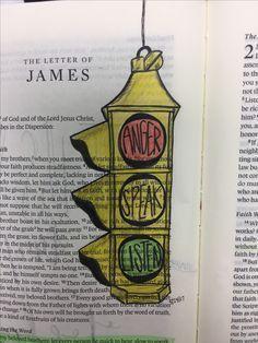 Image result for james 1:19 bible journaling