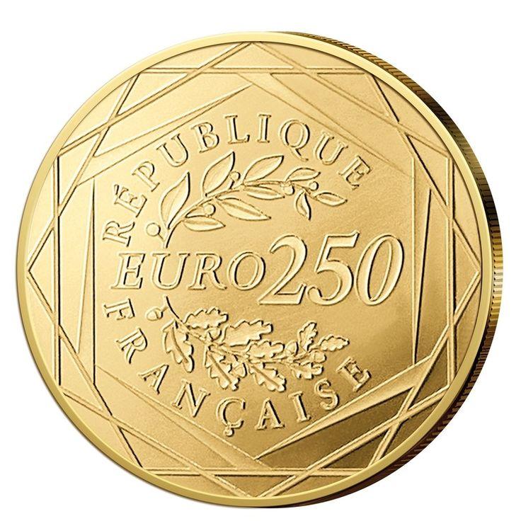 Goldmünze Frankreich 250 Euro Gallischer Hahn 2014  GOLD zu 250 Euro