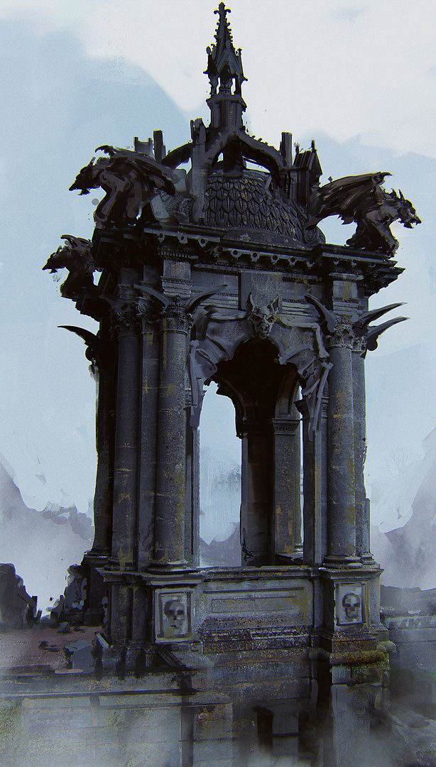 I'm not sure what that would be in the world of the novel, but it belongs right there (Concept Art by Mathias Zamęcki)