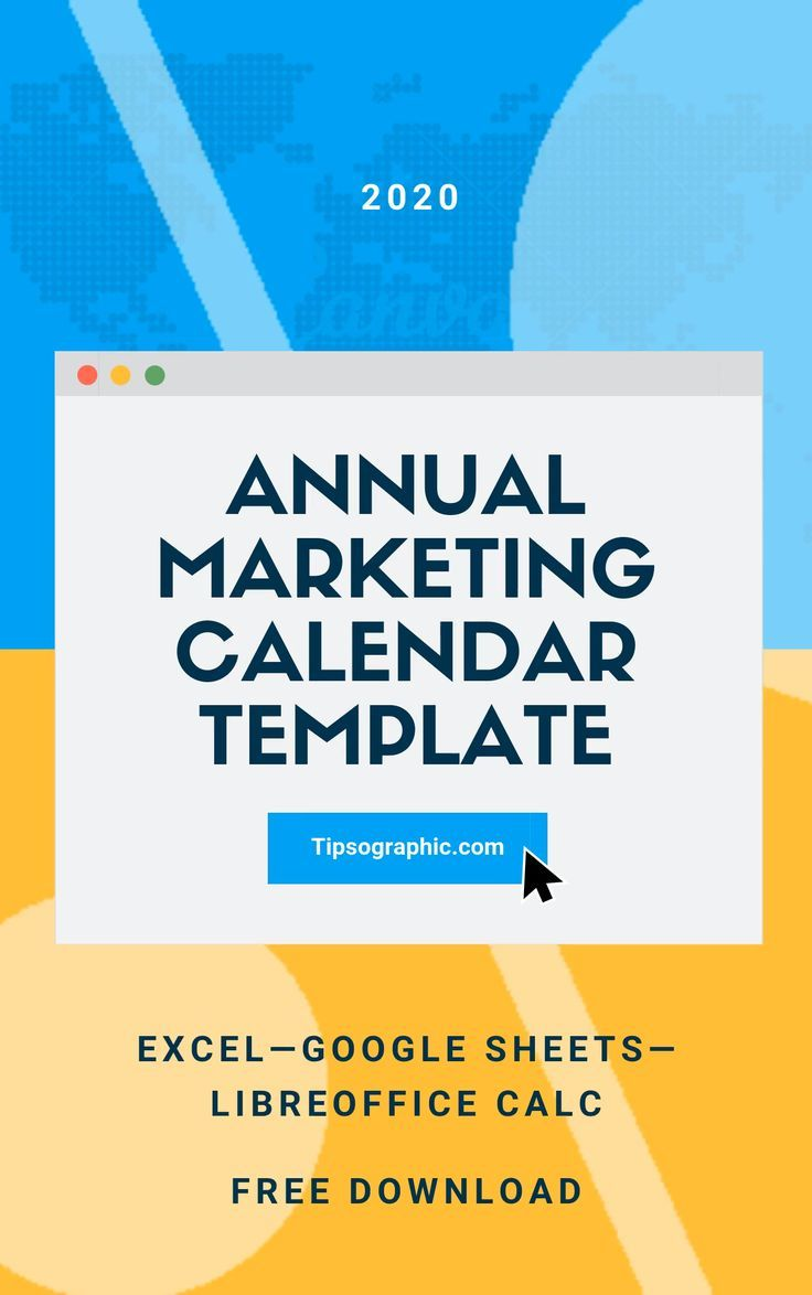 Annual Marketing Calendar Template for Excel, Free Download (2020