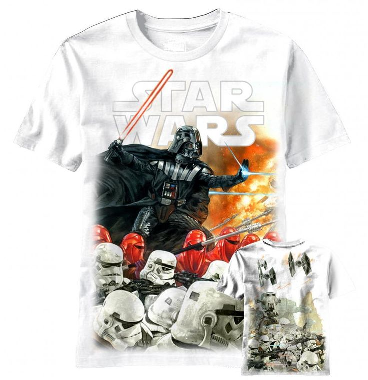 For sure, Darth Vader is an exterminator!  Hard core fans of Star Wars will love this officially-licensed Star Wars Darth Vader t-shirt.  Featuring Darth Vader in battle mode across the front with Storm Troopers at his side, this Darth Vader Star Wars t-shirt is totally kick ass.  Fans of Darth Vader will be dazzled by Darth's action pose on the front of this Star Wars t-shirt and will have the coolest Star Wars t-shirt in the room when they wear it to comic con this year.