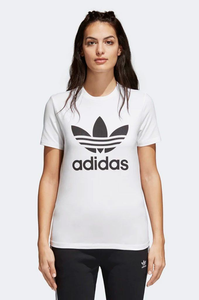 Tee   Adidas superstar shoes white