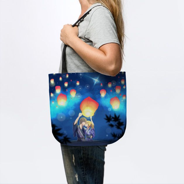 Akari you can find this bag on teepublic, is on sale for only 16$ for 3 days! #akari #light #anime #manga #love #pillow #cuscino #work #art #arte #otaku #lovers #blue #sale #onsale #teepublic #bag