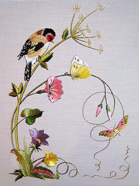 MATIN LUMINEUX: Peinture à l'aiguille