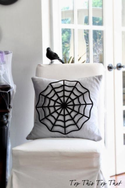 DIY Spider Web Pillow from Top This Top That