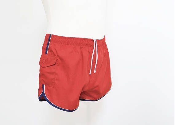 Mens Trunks, 70s, Vintage Trunks, Men's, Swimwear, Swimming Trunks, James Bond, Holiday Shorts, Menswear, Vintage Clothing, Vintage Menswear