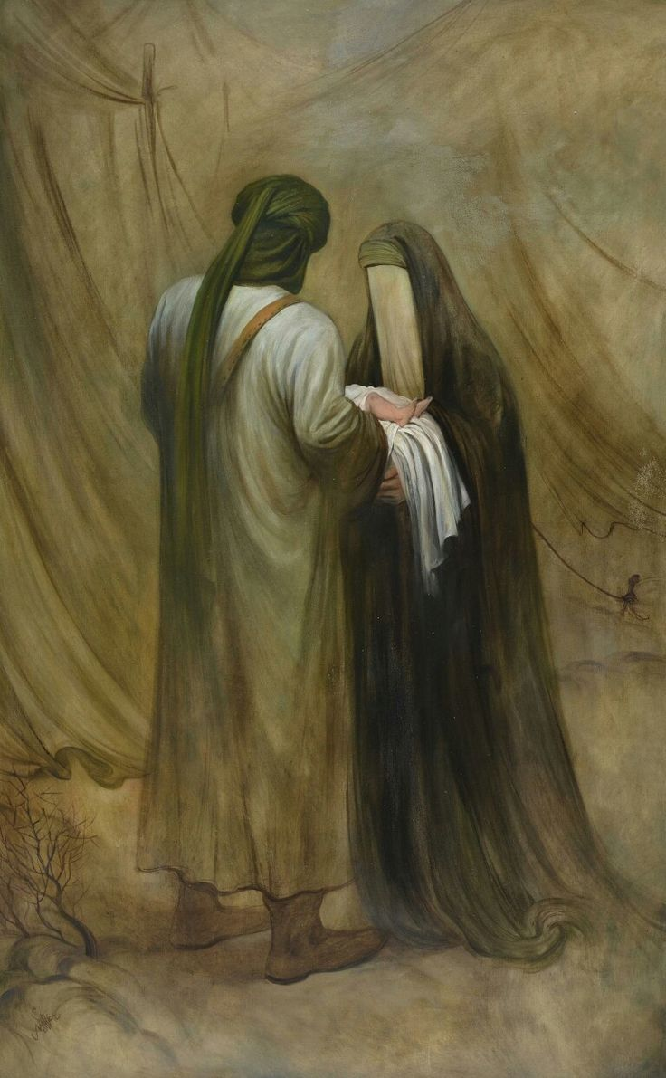 From a collection by Iranian artist Hasan Rouh Al-Amin exhibited in Hamburg, Germany. #Karbala #ImamHussein #Muharram
