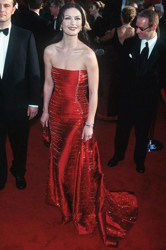 Catherine zeta jones red carpet dresses