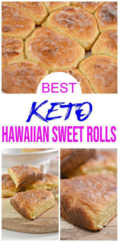 Best Keto Hawaiian Sweet Rolls Low Carb Bread Dinner Roll Idea Quick Easy Ketogenic Diet Recipe Completely Keto Friendly Gluten Free In 2020 Hawaiian Sweet Rolls