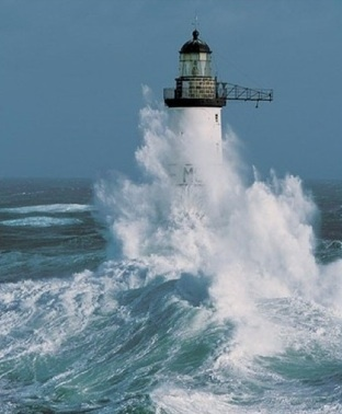 lighthouse and surf....