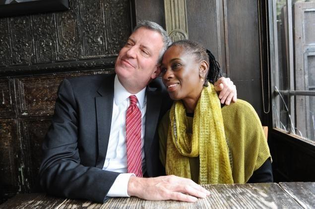 Democratic mayoral hopeful Bill de Blasio (left) says wife Chirlane McCray is his 'reality check.'