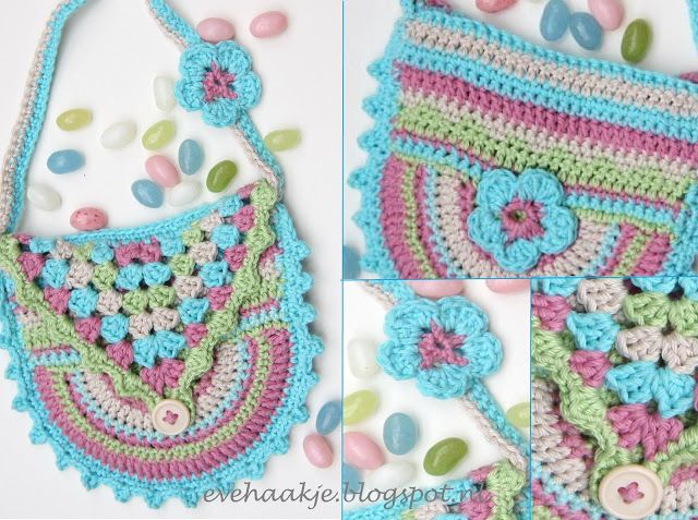Haken en Kralen... by EveLYn : Jelly bean Tasje. Patroon in Nederlands