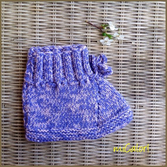 A Pair of Knitted Slippers by miCalorKnits on Etsy