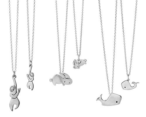 mother daughter necklaces by Mark Poulin ($60)