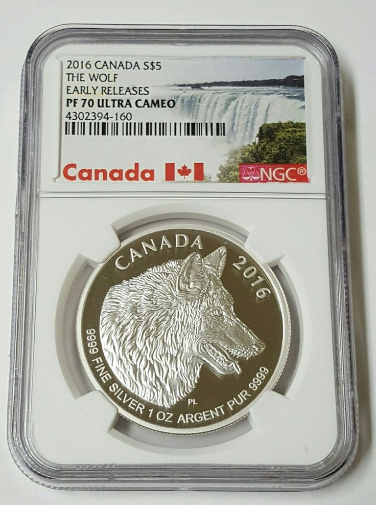 2016 Canada S 5 The Wolf Early Releases Pf70 Ultra Cameo