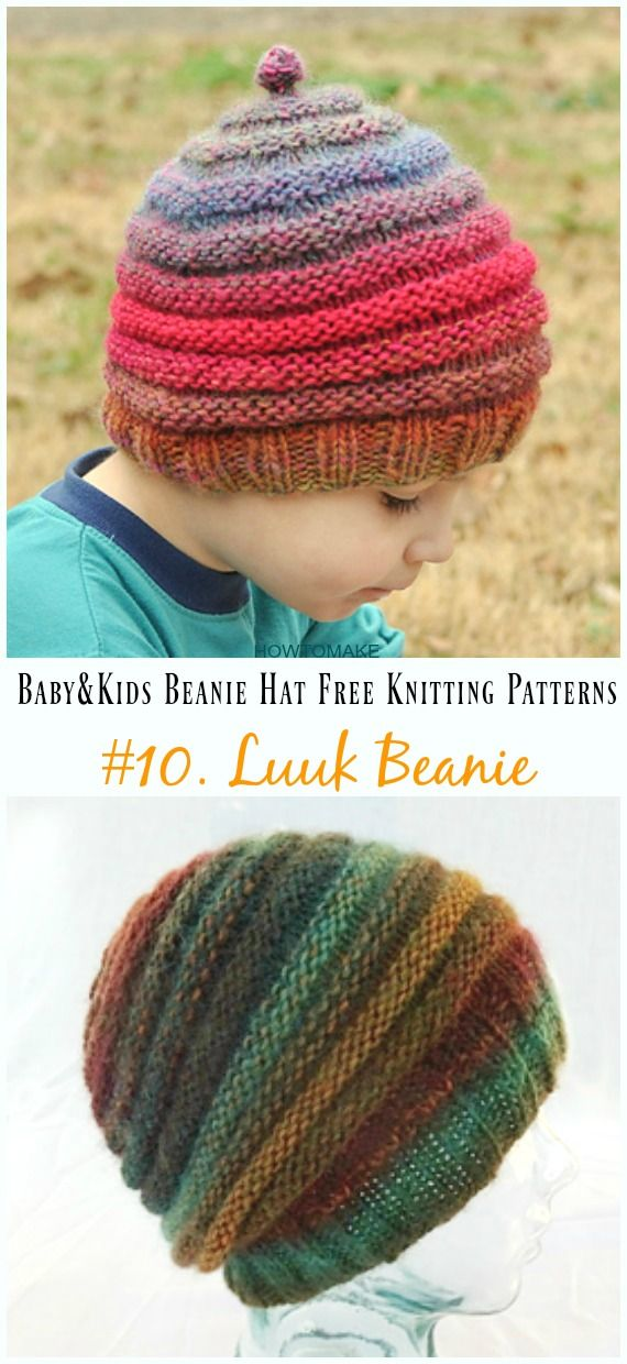 Baby Kids Beanie Hat Free Knitting Patterns Hats Scarves Gloves