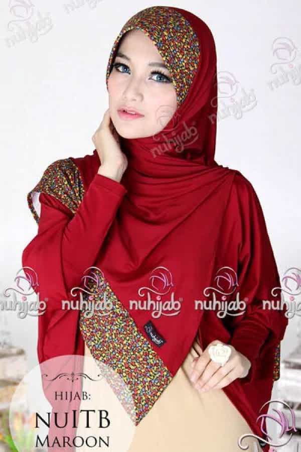 Nuhijab Nu Itb - Marun Rp. 95.000 Bahan: High Quality Spandex Jersey Polca Order sms/wa 082328384495