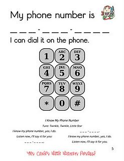 Ah, finally a phone number practice sheet that does not have a picture of an old phone.
