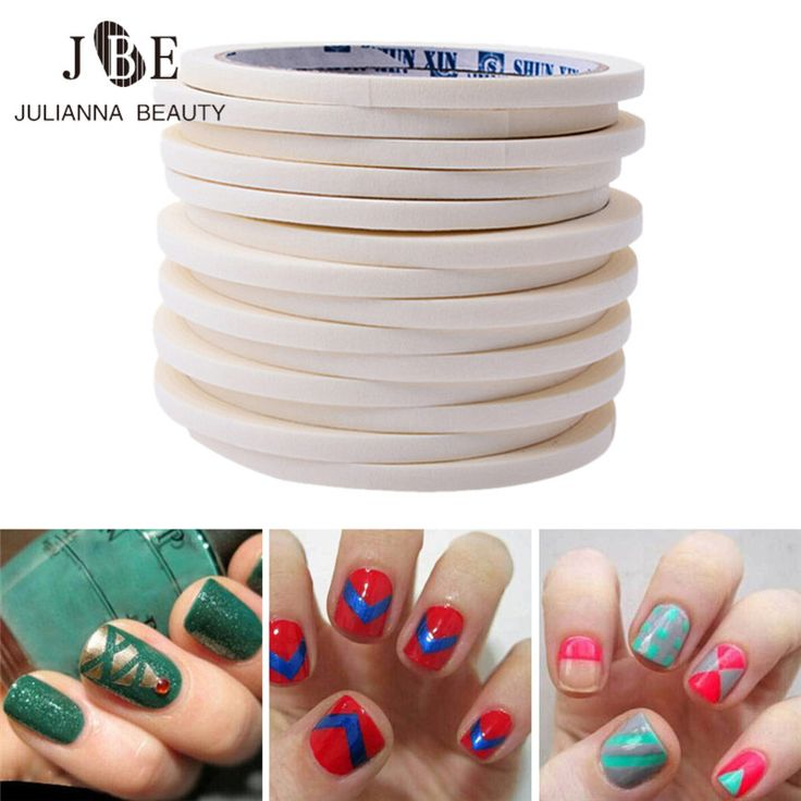 20 Roll 0.5CM/1.2CM White Nail Art Tape Masking Tape Scotch Tapes Nail Edge Guide Tips DIY Stickers French Manicure Stripe Tools