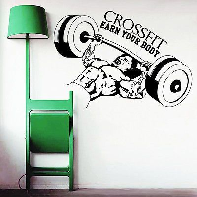 Wall Decals Quotes Sport Body-Building Bar Gym Bedroom Decal Vinyl Decor DA3794