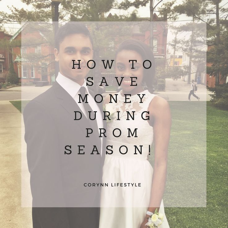 Tips on how to save money during #Prom season!