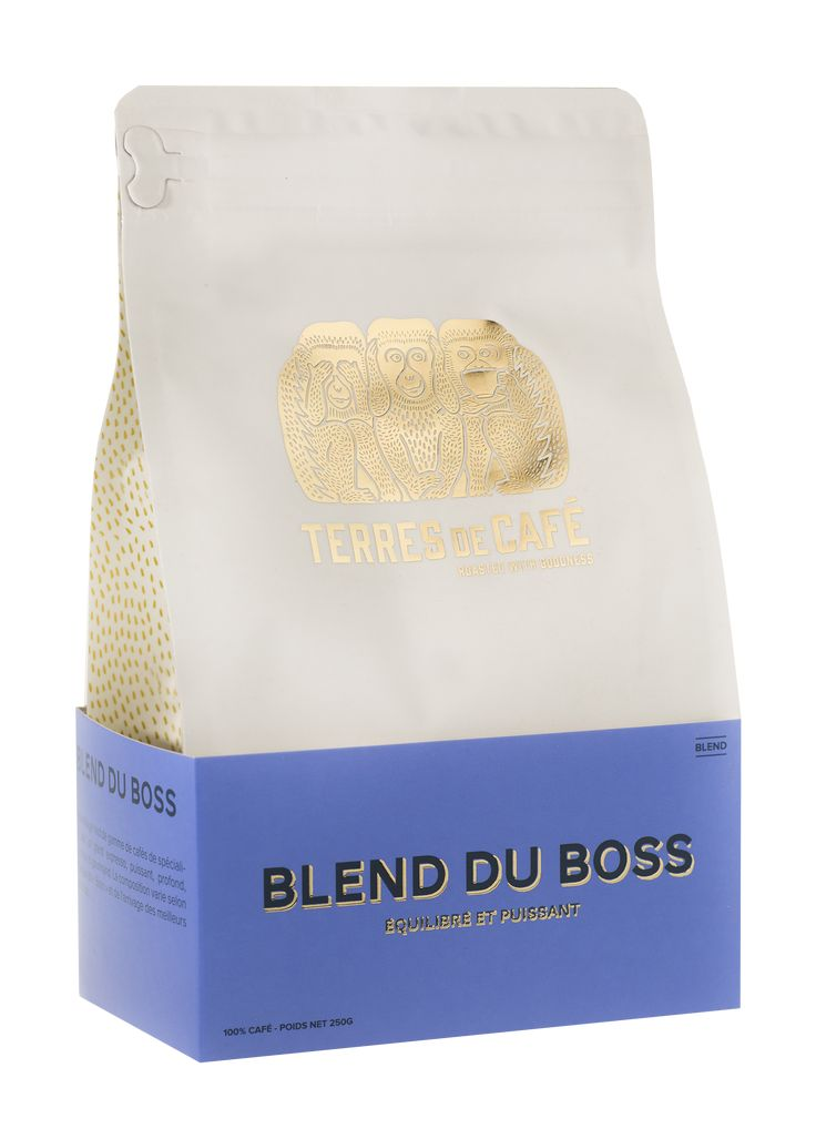 Blend du Boss | Blend composé du Moka Guji Highland ( Ethiopie), du Bob-o-Link ( Brésil) et de l'Himalaya Bourbon rouge ( Salvador). Un café intense aux notes de fruits rouges et blancs, et de sucre de canne. ••• #blendduboss #coffee #specialycoffee #coffeelovers #terresdecafe