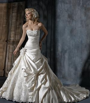 Maggie Sottero Ambrosia is a real princess style wedding dress - New With Tags Wedding Dress | SmartBrideBoutique.com