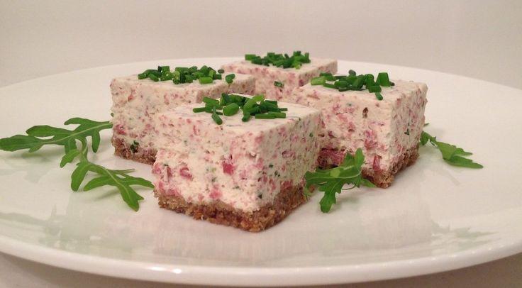Ren-cheesecake på rågbotten med pepparrot och gräslök - Älska Norrland!