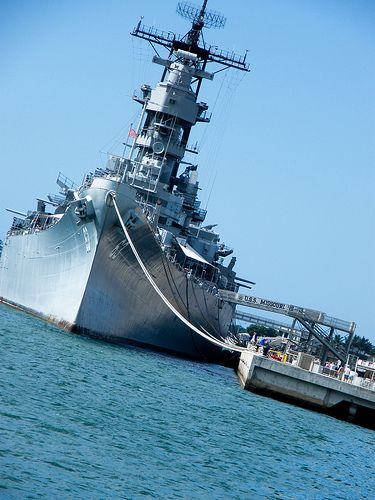 USS Missouri in anchor @Pearl Harbour ,Hawaii