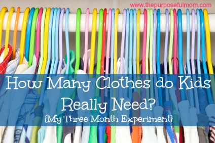 How Many Clothes do Kids Really Need? My new experiment to pare down our children's clothes for a simpler wardrobe.