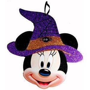 Disney Halloween Decoration - Minnie Witch Face Hanging Decoration