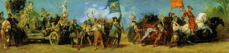 Hans Makart (1840-1884) Der Jubiläumszug: Festwagen der Jagd Oil on canvas 1879