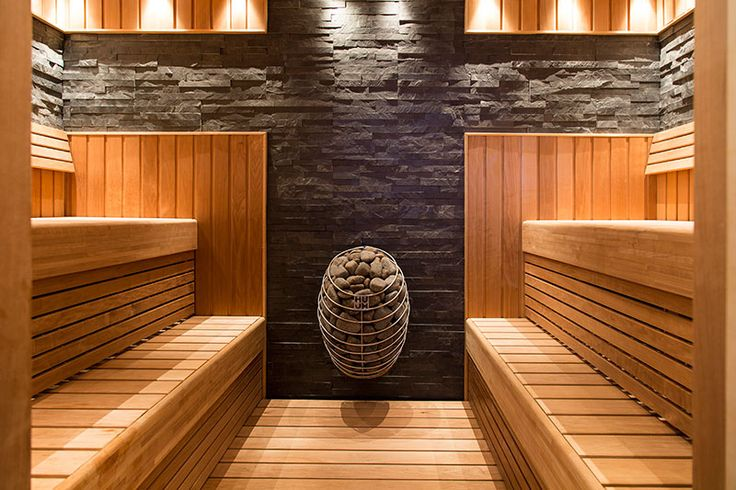 Great stone wall detail – gives the sauna a certain twist