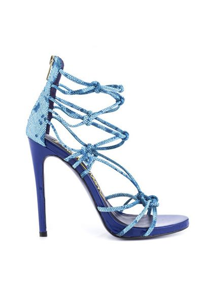 Blue Strappy Heel Wrong shade of blur