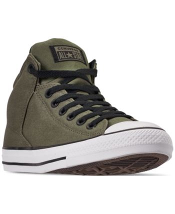 6956b69062741 Converse Men s Chuck Taylor All Star High Street High Top Uniform Canvas  Casual Sneakers from Finish Line - FIELD 10.5  MensFashionSneakers