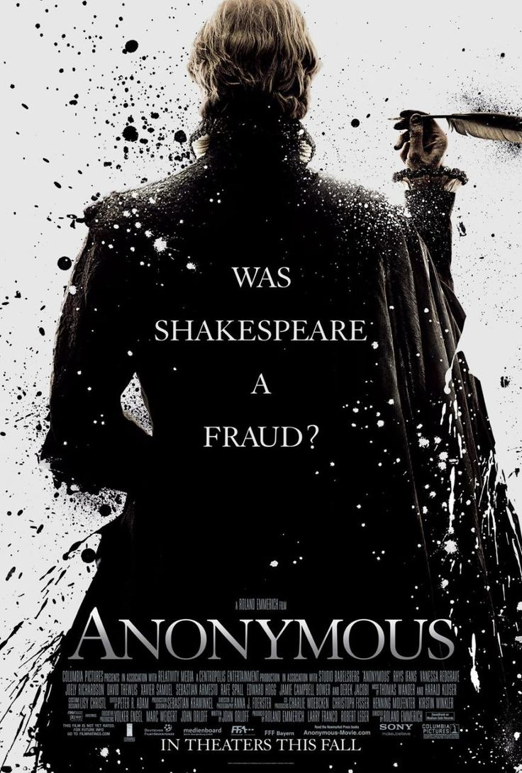 "Cartaz do filme ""Anonymous""."