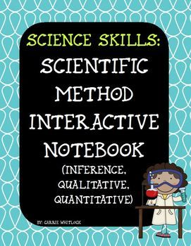 Scientific Method : Interactive Notebook: everything you need to do three entries in your interactive science notebooks pertaining to the scientific method including: inference, observations, qualitative, quantitative, predictions, and scientific method steps. #ScientificMethod #InteractiveNotebook #CarrieWhitlockTpT