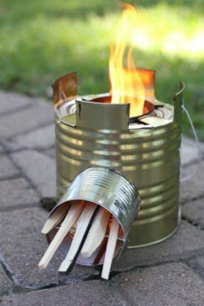Homemade TIN CAN Rocket Stove -