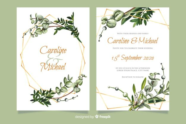 Download Wedding Invitation Template With Flowers For Free Wedding Invitation Templates Wedding Invitations Wedding Cards