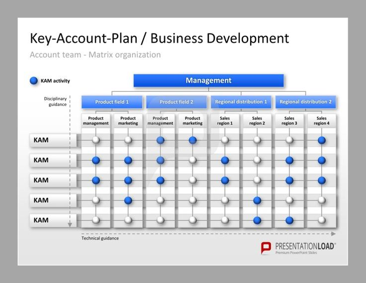 Key Account Management Matrix For PowerPoint. Key Account Plan Of Business  Development With