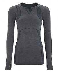 Sweaty Betty - Terrain Merino LS Seamless Top - grey