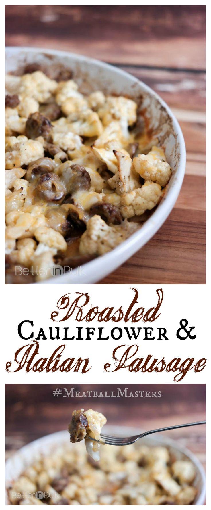 Roasted Cajun Cauliflower and Sausage with Johnsonville®  #MeatballMasters #sponsored