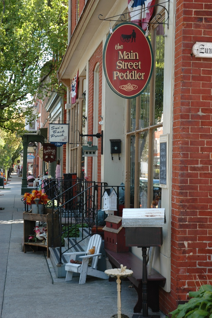 Lititz, PA- Great little town with shops & restaurants and a chocolate and pretzel factory in Lancaster County. Great for a day trip