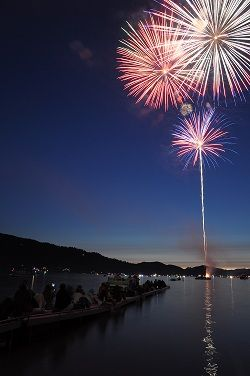 July 4th Fireworks on Whitefish Lake - Jul 4, 2017 - Whitefish Chamber of Commerce,MT