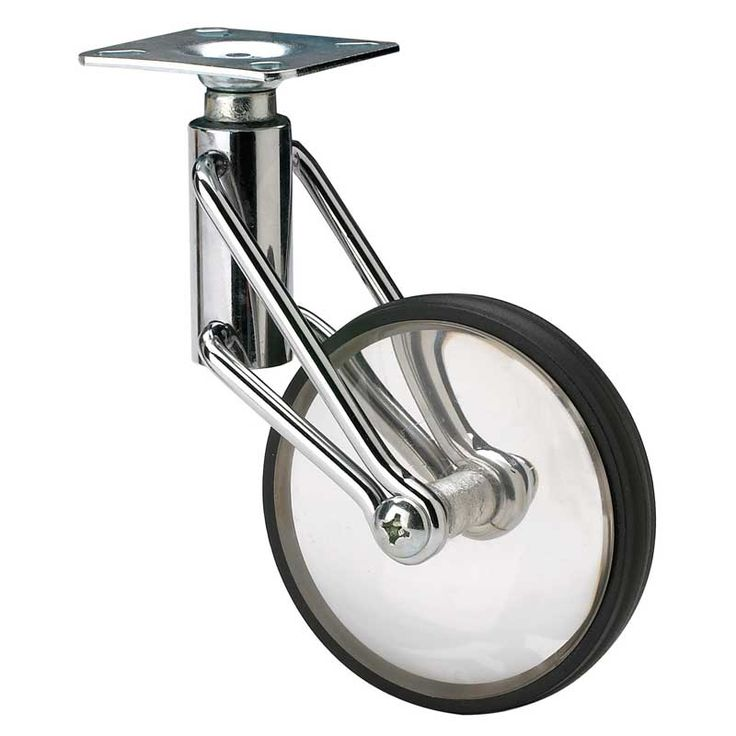 Bicycle Wheel Caster | We offer a tremendous selection of industrial and designer casters, locking and non-locking casters, casters that swivel, casters that pivot, twin-wheel casters, soft and hard rubber casters, and heavy duty casters for larger commercial carts. #FurnitureCasters #CabinetCasters