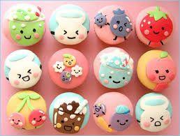 A bunch of adorable ice cream cupcakes.